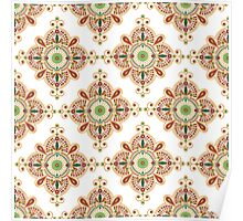 ethnic Indian pattern Poster