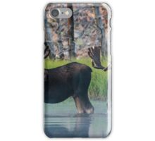 Moose in Dawn Fog iPhone Case/Skin