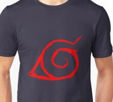 KONOHA'S VILLAGER - red version on request Unisex T-Shirt