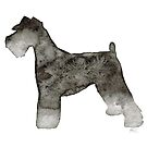 Miniature Schnauzer Watercolor  by Laura Bell