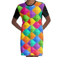 candy abstract colorful Graphic T-Shirt Dress