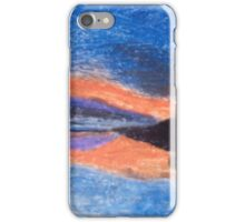 Oil Pastel Drawing of a Sunset iPhone Case/Skin