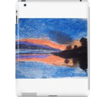 Oil Pastel Drawing of a Sunset iPad Case/Skin