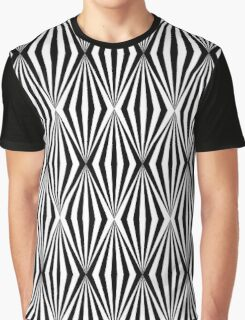 Black and white geometric pattern Graphic T-Shirt