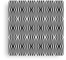 Black and white geometric pattern Canvas Print