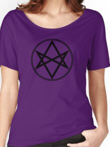 Men of Letters Symbol Black Women's Relaxed Fit T-Shirt