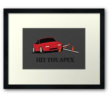 Hit The Apex Framed Print