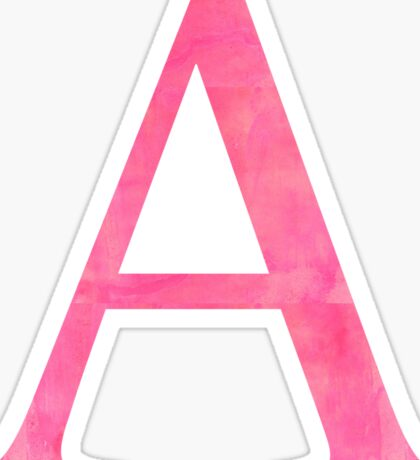 pink a // alpha Sticker