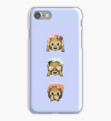 Flower Crown Monkey iPhone Case/Skin
