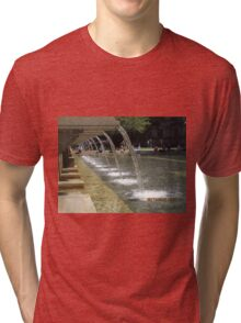 Fountain at Copley Place Boston MA Tri-blend T-Shirt