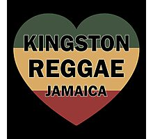Kingston reggae jamaica heart Photographic Print