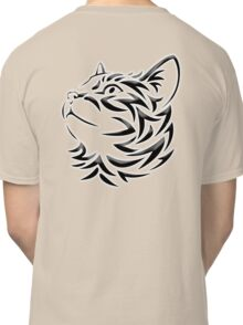Cat, Tribal Cat, Cat looking Up, Feline, Puss, Pussy Classic T-Shirt