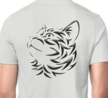 Cat, Tribal Cat, Cat looking Up, Feline, Puss, Pussy Unisex T-Shirt