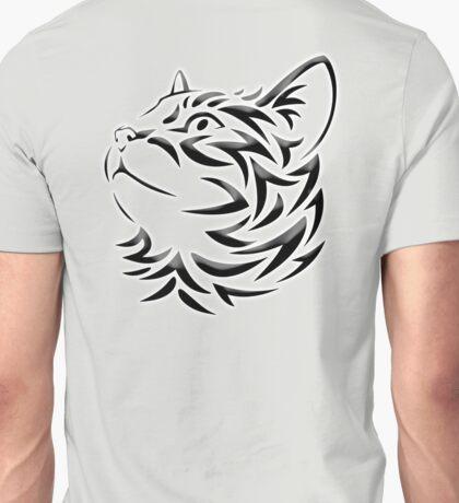 Cat, Tribal Cat, Cat looking Up, Feline, Puss, Pussy Unisex T-Shirt