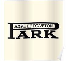 Vintage park amp black Poster