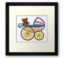 Cute Baby Carriage Framed Print
