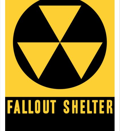 United States Fallout Shelter Sign Sticker