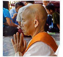 Nun Praying. Poster
