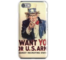 I want you for the U.S. Army iPhone Case/Skin