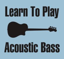Play acoustic bass (black) One Piece - Short Sleeve