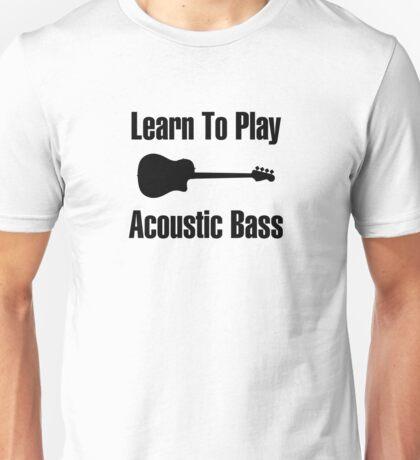 Play acoustic bass (black) Unisex T-Shirt