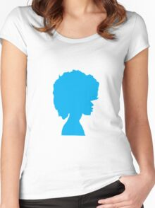 Afro Blue Women's Fitted Scoop T-Shirt