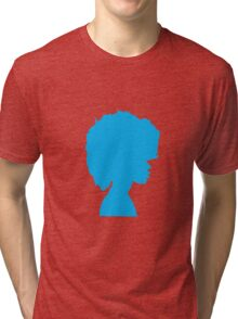 Afro Blue Tri-blend T-Shirt