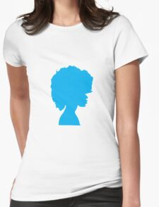 Afro Blue Womens Fitted T-Shirt