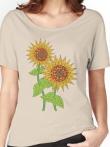 Colorful Sunflowers Women's Relaxed Fit T-Shirt