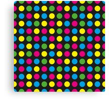 Pattern in circles Canvas Print