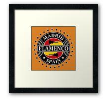 Madrid flamenco spain Framed Print