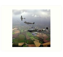 Spitfire sweep Art Print