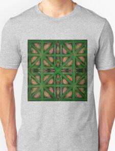 Green Peach Plaid Unisex T-Shirt