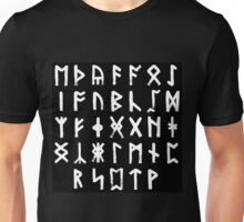 The Anglo-Saxon Futhorc Collected Inverted Unisex T-Shirt