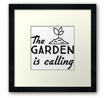 The garden is calling Framed Print