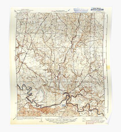 USGS TOPO Map Arkansas AR Moro Bay 260206 1938 62500 Poster
