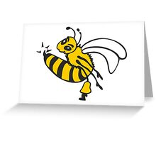 Bee Sting Greeting Card