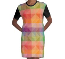 colorful  Graphic T-Shirt Dress