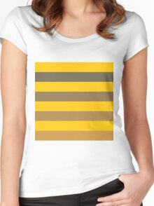 19. Summer Stripes Women's Fitted Scoop T-Shirt