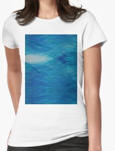 Sky Blue Waves Womens Fitted T-Shirt
