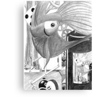 Blue Fish Dreaming Canvas Print