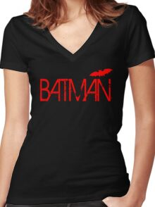 Batman Logo  Women's Fitted V-Neck T-Shirt