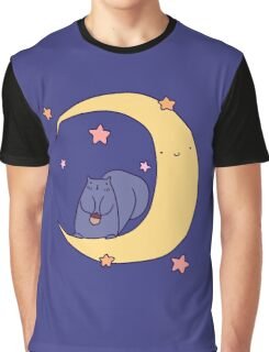 Moon Squirrel Graphic T-Shirt