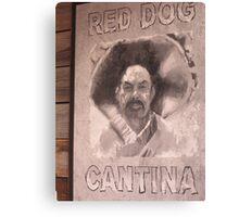 Red Dog Cantina Canvas Print