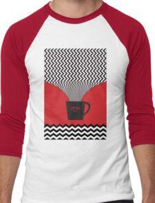 a damn fine cup of coffee Men's Baseball ¾ T-Shirt