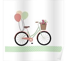 balloons and bike by hangaintan Poster