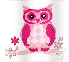 the pink owl by hangaintan Poster
