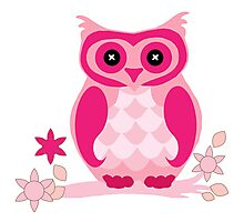 the pink owl by hangaintan Photographic Print