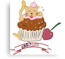 Cupcake Cat Canvas Print