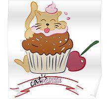 Cupcake Cat Poster